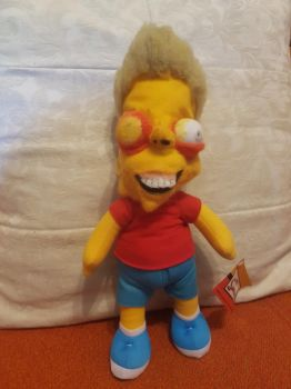 Just like Bart! Monster Factory-inspired plush by feltgood