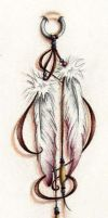 Feathers Tattoo Colored by wayfaring-artist