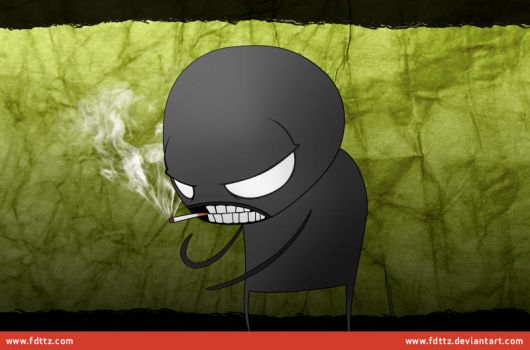 angry smoker by fdttz