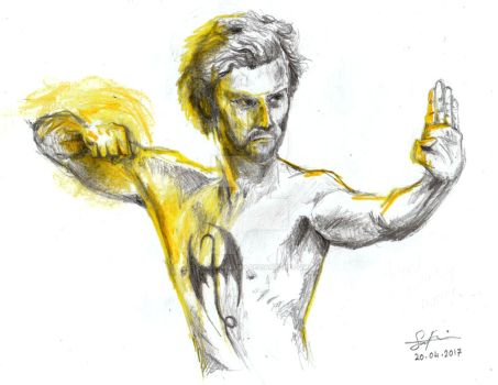 Danny Rand/Iron Fist by samfrancis94