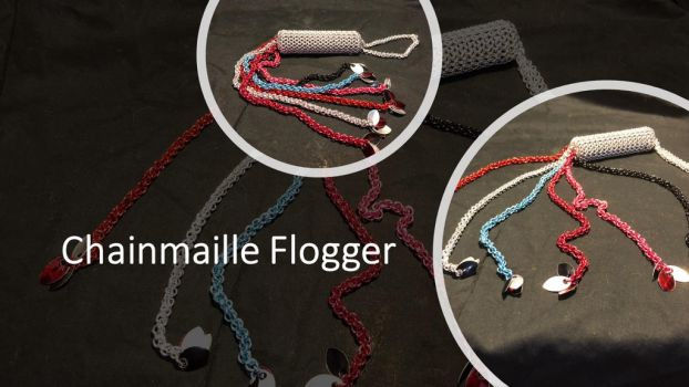 Chainmaille Flogger by graywolfsmaille