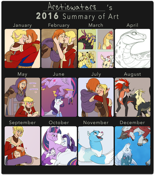 2016 Summary Of Art by Arcticwaters