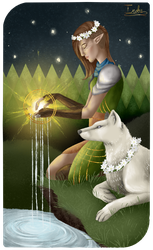 Dragon Age Tarot - The Star by The13thBlackCat