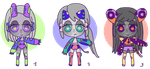 Mini Chibi Batch 3 - 50Pts each (OPEN) by Super-Gabou