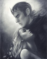 Hades and Persephone by Felt-heart