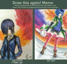 4 Months of Improvement O-o.. by xZSilverbreezeZx
