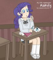 My Little HighSchooler - Rari by CaramelCookie