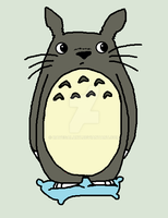 Totoro on pillow by RaveGalaxy