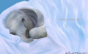 Goodnight Baby Elephant by youlittlemonkey