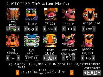 Customize the golden matpat by MangleTheEpicFox