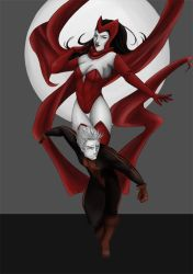 MARVEL :: Scarlet Witch and Quicksilver by Nuxcia