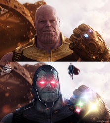 Thanos / Darkseid - Before And After by Bryanzap