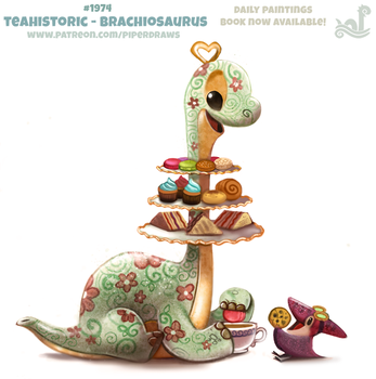 Daily Paint 1974# Teahistoric - Brachiosaurus by Cryptid-Creations