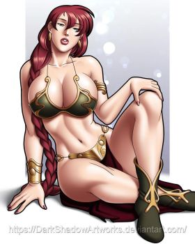 Annie Slave Leia cosplay by darkshadowartworks