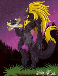 Golden Wolf by chriscrazyhouse