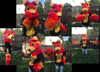 Fire Sabercat Partial Suit by GoldenManeMascoting