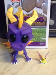 Spyro and Sparx Funko Figures by DazzyADeviant