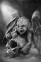 Lovecraft: Baby Demon-Painted by GraphicGeek