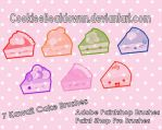 Kawaii Cake Brushes - Set of 7 by CookieeBeatdownn