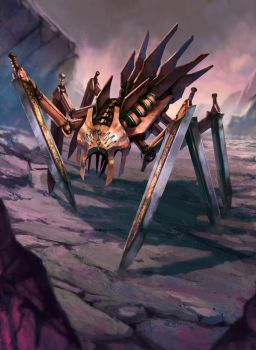 Sword Spider by XRobinGoodFellowX