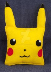 Pikachu Pillow Plush by CatWoman4ever