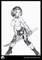 girl katana by tiocleiton