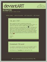 dA Mud CSS Journal by Nicasus