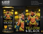 Yellow and Black Affair Party Flyer by Gallistero