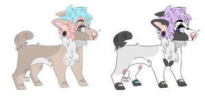 Simple Pupper Adoptables - CLOSED by Pvggy