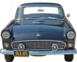 cut out vintage blue car by SolStock