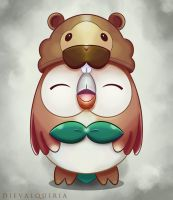 Rowlet With Bidoof Hat [Request].