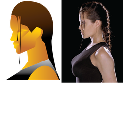 Lara Croft Geometric Profile by angel-jolie