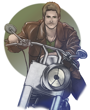 Biker!Dean by MelanieDarling