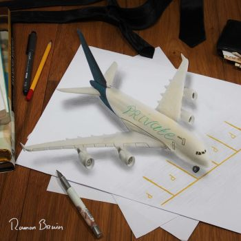 Private plane 3d drawing by RamonBruin
