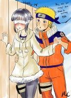 Gentle Naruto  with a Blind Hinata by shelly-14