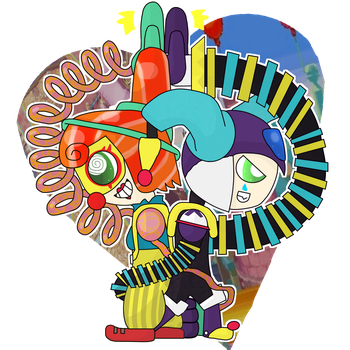 Lola Pop and Clown Man by Kittygames50