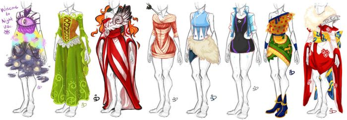Dresses 2 by Redundantthoughts