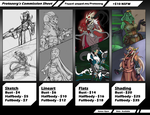Character Commissions Open! - 2017 by Pro-roro