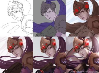 Overwatch Widowmaker process by magion02