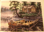 Morning Lake Cross-stitch by jenninn