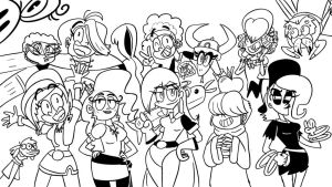 Strong Female Characters (black and white) by artbylukeski