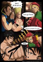 S.Fighter VS Tekken comic 2-1 by magion02