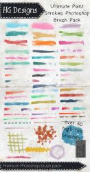 Ultimate Paint Strokes Photoshop Brush Set by HGGraphicDesigns