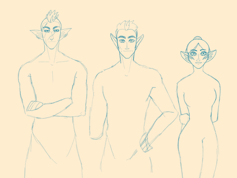 some elves Wip by TheIronAdorabull