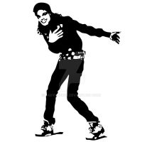 Michael Jackson Stencil by LadyLuck89
