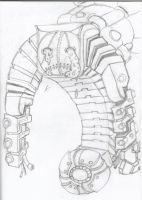 Nightmare from Metroid Fusion by A1creator