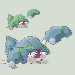 Fakemon - Shellmet by mssingno