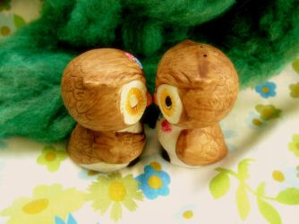 vintage owls by charityhendrix