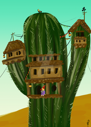 Home in the Cactus by MechaDaveO