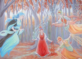 The Faerie Queene and the Autumn Faeries by MariaAragon64